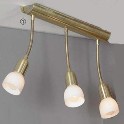 Светильник поворотный спот Lussole LSL-7790-03 BARETEТройные<br>Светильник LUSSOLE LSL-7790-03 BARETE отличается от светильника LUSSOLE LSL-7760-03 BARETE только золотой цветовой гаммой. В нем также есть поворотный механизм, позволяющий перемещать лучи света в нескольких направлениях. Форма плафона делает освещение направленным, а современная конструкция и цветовая гамма позволяют светильнику отлично выглядеть в интерьере в стиле «хай-тек» или «модерн».<br><br>S освещ. до, м2: 8<br>Тип лампы: накал-я - энергосбер-я<br>Тип цоколя: E14cs<br>Цвет арматуры: золотой<br>Количество ламп: 3<br>Ширина, мм: 70<br>Расстояние от стены, мм: 290<br>Высота, мм: 400<br>Оттенок (цвет): белый<br>MAX мощность ламп, Вт: 40
