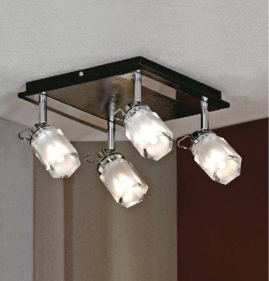 Люстра Lussole LSL-7901-04 Abruzzi хромПоворотные<br>Этот светильник благодаря четырем плафонам, можно использовать не только на стенах, но и в качестве потолочной люстры.  Он подойдет в любое помещение, и с помощью поворота осей можно осветить большое количество различных зон, а также сделать свет более рассеянным, направив его в потолок, или более направленным, опустив плафоны вертикально вниз.  Современные цвета хром, белый и черный и простая конструкция светильника будут идеальным дополнением к интерьеру в стиле модерн или хай-тек.<br><br>Установка на натяжной потолок: Ограничено<br>S освещ. до, м2: 11<br>Крепление: Планка<br>Тип лампы: галогенная / LED-светодиодная<br>Тип цоколя: G9<br>Количество ламп: 4<br>Ширина, мм: 260<br>MAX мощность ламп, Вт: 40<br>Длина, мм: 260<br>Расстояние от стены, мм: 170<br>Оттенок (цвет): белый<br>Цвет арматуры: серебристый