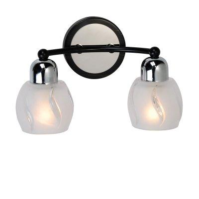 Светильник Lussole lsl-8501-02Современные<br>Стильный настенный светильник Lussole lsl-8501-02 предназначен для ценителей ярких, эффектных и ультрасовременных вещей в интерьере! «Строгие» элементы крепления насыщенного черного оттенка гармонично сочетаются с металлическими деталями и прозрачными плафонами, создавая великолепный образ, который станет украшением комнаты. Рекомендуем Вам использовать бра в комплекте из нескольких экземпляров и люстрой из этой же серии, чтобы интерьер выглядел по-дизайнерски профессиональным, красивым и элегантным.<br><br>S освещ. до, м2: 6<br>Тип лампы: накаливания / энергосбережения / LED-светодиодная<br>Тип цоколя: E14<br>Количество ламп: 2<br>Ширина, мм: 130<br>MAX мощность ламп, Вт: 40<br>Длина, мм: 260<br>Высота, мм: 170<br>Цвет арматуры: серебристый