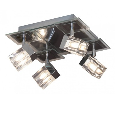 Светильник поворотный спот Lussole LSN-0601-04 MACERATAС 4 лампами<br>Светильники-споты – это оригинальные изделия с современным дизайном. Они позволяют не ограничивать свою фантазию при выборе освещения для интерьера. Такие модели обеспечивают достаточно качественный свет. Благодаря компактным размерам Вы можете использовать несколько спотов для одного помещения.  Интернет-магазин «Светодом» предлагает необычный светильник-спот Lussole LSN-0601-04 по привлекательной цене. Эта модель станет отличным дополнением к люстре, выполненной в том же стиле. Перед оформлением заказа изучите характеристики изделия.  Купить светильник-спот Lussole LSN-0601-04 в нашем онлайн-магазине Вы можете либо с помощью формы на сайте, либо по указанным выше телефонам. Обратите внимание, что у нас склады не только в Москве и Екатеринбурге, но и других городах России.<br><br>S освещ. до, м2: 10<br>Тип лампы: галогенная / LED-светодиодная<br>Тип цоколя: G9<br>Количество ламп: 4<br>Ширина, мм: 270<br>Длина, мм: 270<br>Высота, мм: 150<br>MAX мощность ламп, Вт: 40