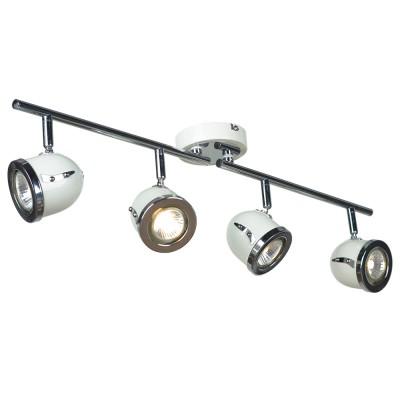 Светильник поворотный спот Lussole LSN-3119-04 TIVOLIС 4 лампами<br>Светильники-споты – это оригинальные изделия с современным дизайном. Они позволяют не ограничивать свою фантазию при выборе освещения для интерьера. Такие модели обеспечивают достаточно качественный свет. Благодаря компактным размерам Вы можете использовать несколько спотов для одного помещения.  Интернет-магазин «Светодом» предлагает необычный светильник-спот Lussole LSN-3119-04 по привлекательной цене. Эта модель станет отличным дополнением к люстре, выполненной в том же стиле. Перед оформлением заказа изучите характеристики изделия.  Купить светильник-спот Lussole LSN-3119-04 в нашем онлайн-магазине Вы можете либо с помощью формы на сайте, либо по указанным выше телефонам. Обратите внимание, что у нас склады не только в Москве и Екатеринбурге, но и других городах России.<br><br>S освещ. до, м2: 13<br>Тип лампы: галогенная / LED-светодиодная<br>Тип цоколя: Gu10<br>Цвет арматуры: серебристый<br>Количество ламп: 4<br>Ширина, мм: 110<br>Длина, мм: 720<br>Расстояние от стены, мм: 190<br>MAX мощность ламп, Вт: 50