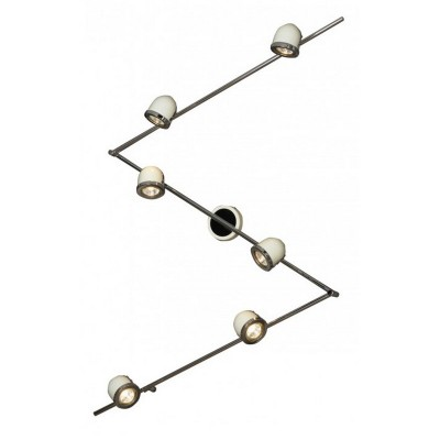 Светильник поворотный спот Lussole LSN-3119-06 TIVOLIСветильники акцентного освещения<br>Светильники-споты – это оригинальные изделия с современным дизайном. Они позволяют не ограничивать свою фантазию при выборе освещения для интерьера. Такие модели обеспечивают достаточно качественный свет. Благодаря компактным размерам Вы можете использовать несколько спотов для одного помещения.  Интернет-магазин «Светодом» предлагает необычный светильник-спот Lussole LSN-3119-06 по привлекательной цене. Эта модель станет отличным дополнением к люстре, выполненной в том же стиле. Перед оформлением заказа изучите характеристики изделия.  Купить светильник-спот Lussole LSN-3119-06 в нашем онлайн-магазине Вы можете либо с помощью формы на сайте, либо по указанным выше телефонам. Обратите внимание, что у нас склады не только в Москве и Екатеринбурге, но и других городах России.<br><br>S освещ. до, м2: 20<br>Тип лампы: галогенная / LED-светодиодная<br>Тип цоколя: Gu10<br>Цвет арматуры: серебристый<br>Количество ламп: 6<br>Ширина, мм: 110<br>Длина, мм: 2370<br>Расстояние от стены, мм: 190<br>MAX мощность ламп, Вт: 50