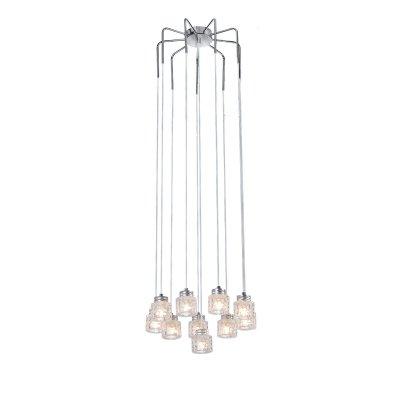Люстра Lussole lsn-5103-10Подвесные<br>Сложно пройти равнодушно мимо подвесного светильника Lussole lsn-5103-10! Напоминающий по форме «карусель», он выглядит эффектно и броско. Десять прозрачных плафонов создают яркое и направленное освещение на площади до 27 кв.м. Такая люстра должна сверкать в больших, парадных комнатах и залах, чтобы каждый гость мог увидеть ее неповторимую красоту и отдать должное Вашему безупречному вкусу! В качестве дополнительной подсветки добавьте несколько настенных бра и встраиваемых светильников из этой же серии – они дополнят общий стиль и станут прекрасным «завершением» светового оформления интерьера.<br><br>Установка на натяжной потолок: Да<br>S освещ. до, м2: 27<br>Крепление: Планка<br>Тип товара: Люстра подвесная<br>Тип лампы: галогенная / LED-светодиодная<br>Тип цоколя: G9<br>Количество ламп: 10<br>MAX мощность ламп, Вт: 40<br>Диаметр, мм мм: 400<br>Высота, мм: 1200<br>Цвет арматуры: серебристый