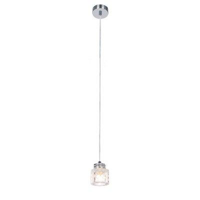 Светильник Lussole lsn-5106-01Подвесные<br>Подвесной светильник Lussole lsn-5106-01 предназначен для подсветки небольшой по площади (до 3 кв.м.) зоны с высоким потолком. Он выполнен в «минималистичном» стиле, без «утяжеляющих» декоративных элементов, поэтому прекрасно впишется в любой современный интерьер. Стеклянный плафон украшен «ненавязчивым» рисунком, напоминающим льдинки, и станет элегантным украшением комнаты. Добавьте в интерьер настенные бра, встраиваемые светильники и люстру из этой же серии, и пространство преобразится, став «цельным», гармоничным и «законченным».<br><br>Установка на натяжной потолок: Да<br>S освещ. до, м2: 3<br>Крепление: Крюк<br>Тип лампы: галогенная / LED-светодиодная<br>Тип цоколя: G9<br>Количество ламп: 1<br>MAX мощность ламп, Вт: 40<br>Диаметр, мм мм: 80<br>Высота, мм: 1150<br>Цвет арматуры: серебристый
