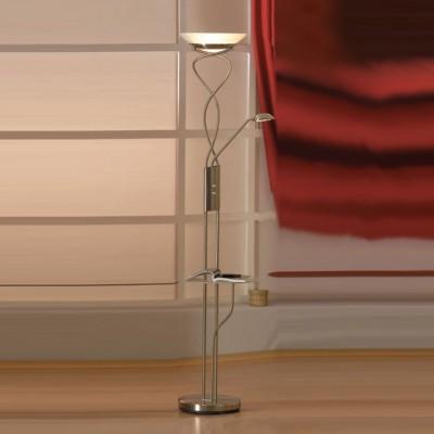 Торшер со столиком Lussole LSN-8935-02 ComfortСо столиком<br>торшер со столиком стеклянным (прозрачным), который может убираться при необходимости. Все лампы диммируются, не смотря на большую мощность ламп.<br><br>S освещ. до, м2: 25<br>Тип лампы: галогенная / LED-светодиодная<br>Тип цоколя: R7S/GY6,35<br>Количество ламп: 01.янв<br>MAX мощность ламп, Вт: 300/50<br>Диаметр, мм мм: 330<br>Высота, мм: 1820<br>Оттенок (цвет): белый<br>Цвет арматуры: серый