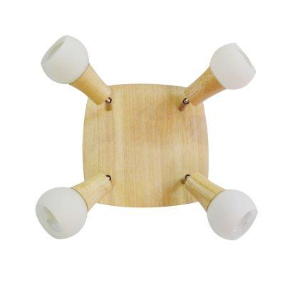 Светильник точечный LGO LSP-0121С 4 лампами<br>Выгодная цена ждёт Вас для приобретения исключительной лаконичности, воссозданной в гармоничном творении профессионалов своего дела. Перед Вами многофункциональный светильник спот LGO LSP-0120: компактный, гармоничный, выполненный в благородном оттенке бука! Только представьте, как выигрышно он будет смотреться в сочетании с деревянной мебелью схожей фактуры. Однако и без этого светильник LGO LSP-0119 является прекрасной составляющей любого интерьера. Такой вариант очень удобен в распределении яркого сияния под желаемыми углами. Осталось только выбрать векторы подачи света и развернуть каждую из четырёх ламп в желаемом направлении с дальнейшей возможностью его менять.<br><br>S освещ. до, м2: 11<br>Тип лампы: накал-я - энергосбер-я<br>Тип цоколя: E14<br>Количество ламп: 4<br>MAX мощность ламп, Вт: 40<br>Цвет арматуры: серый
