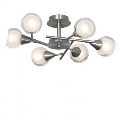 Люстра потолочная LGO LSP-0141Потолочные<br>Стильно, модно, современно – составляющие гармонично сложенного светильника LGO LSP-0141. Дизайнерская задумка использовать сочетание белоснежных и прозрачных деталей плафонов изысканна и элегантна. Это придаёт особый шарм конструкции люстры LGO LSP-0141 в стиле модерн. Ваша квартира или дом заслуживают безупречного наполнения светом, которое теперь гарантировано. Изделие наивысших похвал, отменного качества и превосходного дизайна! Домашние просторы наполнятся ярким светом и обретут чудесное украшение интерьера в образе элегантной люстры LGO LSP-0141. Неповторимое создание дизайнеров и мастеров своего дела, готовое служить Вам долгие годы во благо удовольствия и наслаждения!<br><br>Установка на натяжной потолок: Ограничено<br>S освещ. до, м2: 16<br>Крепление: Планка<br>Тип лампы: накаливания / энергосбережения / LED-светодиодная<br>Тип цоколя: E14<br>Количество ламп: 6<br>MAX мощность ламп, Вт: 40<br>Диаметр, мм мм: 600<br>Высота, мм: 250<br>Цвет арматуры: серый