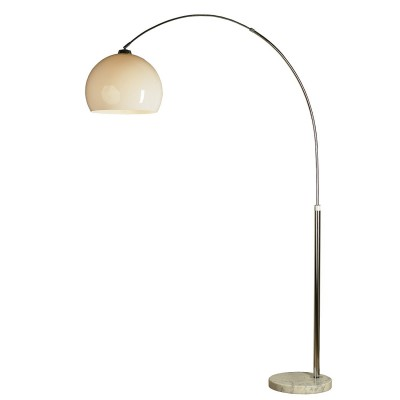 Торшер изогнутый белый LGO LSP-0539Современные<br><br><br>Тип лампы: Накаливания / энергосбережения / светодиодная<br>Тип цоколя: E27<br>Цвет арматуры: серебристый<br>Количество ламп: 1<br>Ширина, мм: 380<br>Высота полная, мм: 2120<br>Длина, мм: 1540<br>MAX мощность ламп, Вт: 60