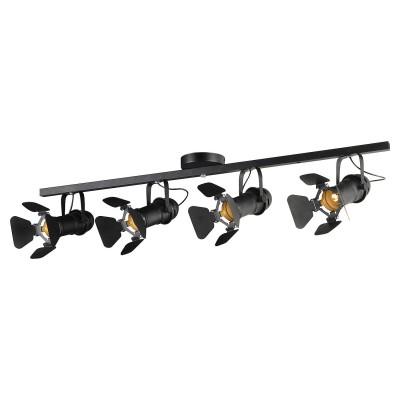 Светильник Loft LSP-8076споты 4 лампы<br>Светильник Loft LSP-8076 отличается поворотной способностью регулировки светового потока и сделает Ваше помещение современным, стильным и запоминающимся! Наиболее функционально и эстетически привлекательно модель будет смотреться в гостиной, зале, холле или другой комнате. А в комплекте с люстрой, бра или торшером из этой же коллекции сделает интерьер по-дизайнерски профессиональным и законченным.