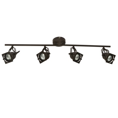 Светильник Loft LSP-9119С 4 лампами<br>Светильники-споты – это оригинальные изделия с современным дизайном. Они позволяют не ограничивать свою фантазию при выборе освещения для интерьера. Такие модели обеспечивают достаточно качественный свет. Благодаря компактным размерам Вы можете использовать несколько спотов для одного помещения.  Интернет-магазин «Светодом» предлагает необычный светильник-спот Loft Loft LSP-9119 по привлекательной цене. Эта модель станет отличным дополнением к люстре, выполненной в том же стиле. Перед оформлением заказа изучите характеристики изделия.  Купить светильник-спот Loft Loft LSP-9119 в нашем онлайн-магазине Вы можете либо с помощью формы на сайте, либо по указанным выше телефонам. Обратите внимание, что у нас склады не только в Москве и Екатеринбурге, но и других городах России.<br><br>S освещ. до, м2: 13<br>Тип цоколя: Gu10<br>Количество ламп: 4<br>MAX мощность ламп, Вт: 50<br>Цвет арматуры: коричневый