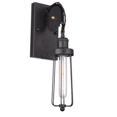 Светильник Loft LSP-9126Лофт<br>В интернет-магазине «Светодом» представлен широкий выбор настенных бра по привлекательной цене. Это качественные товары от популярных мировых производителей. Благодаря большому ассортименту Вы обязательно подберете под свой интерьер наиболее подходящий вариант.  Оригинальное настенное бра Loft Loft LSP-9126 можно использовать для освещения не только гостиной, но и прихожей или спальни. Модель выполнена из современных материалов, поэтому прослужит на протяжении долгого времени. Обратите внимание на технические характеристики, чтобы сделать правильный выбор.  Чтобы купить настенное бра Loft Loft LSP-9126 в нашем интернет-магазине, воспользуйтесь «Корзиной» или позвоните менеджерам компании «Светодом» по указанным на сайте номерам. Мы доставляем заказы по Москве, Екатеринбургу и другим российским городам.<br><br>S освещ. до, м2: 1<br>Тип лампы: накаливания / энергосбережения / LED-светодиодная<br>Тип цоколя: E27<br>Количество ламп: 1<br>Ширина, мм: 120<br>MAX мощность ламп, Вт: 60<br>Расстояние от стены, мм: 170<br>Высота, мм: 430<br>Цвет арматуры: черный