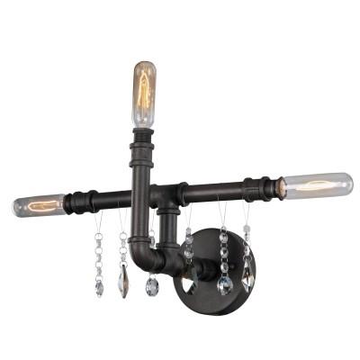 Светильник Loft LSP-9173Лофт<br><br><br>S освещ. до, м2: 8<br>Тип товара: Светильник настенный бра<br>Тип лампы: накаливания / энергосбережения / LED-светодиодная<br>Тип цоколя: E14<br>Количество ламп: 3<br>Ширина, мм: 460<br>MAX мощность ламп, Вт: 40<br>Расстояние от стены, мм: 190<br>Высота, мм: 300<br>Цвет арматуры: коричневый