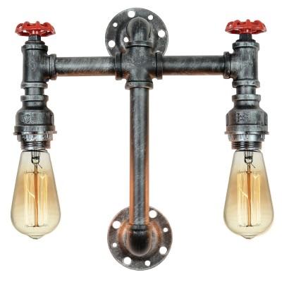 Светильник LSP-9192Морской стиль<br><br><br>Тип лампы: Накаливания / энергосбережения / светодиодная<br>Тип цоколя: E27<br>Количество ламп: 2<br>Ширина, мм: 400<br>MAX мощность ламп, Вт: 60<br>Расстояние от стены, мм: 110<br>Высота, мм: 430<br>Цвет арматуры: черный