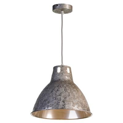 Светильник LOFT LSP-9503одиночные подвесные светильники<br><br><br>Тип лампы: Накаливания / энергосбережения / светодиодная<br>Тип цоколя: E27<br>Цвет арматуры: серебристый<br>Количество ламп: 1<br>Диаметр, мм мм: 320<br>Высота полная, мм: 1200<br>MAX мощность ламп, Вт: 60