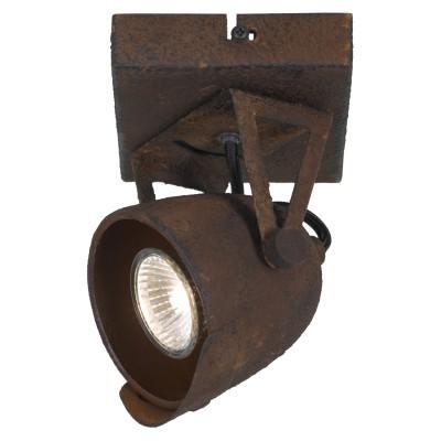 Светильник LOFT LSP-9506Одиночные<br><br><br>Тип лампы: галогенная/LED<br>Тип цоколя: GU10<br>Цвет арматуры: коричневый<br>Количество ламп: 1<br>Ширина, мм: 120<br>Длина, мм: 140<br>Высота, мм: 180<br>MAX мощность ламп, Вт: 50