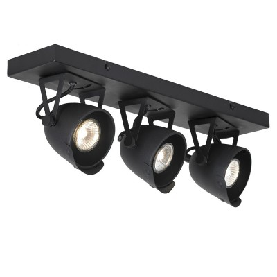 Светильник LOFT LSP-9507тройные споты<br><br><br>Тип лампы: галогенная/LED<br>Тип цоколя: GU10<br>Цвет арматуры: черный<br>Количество ламп: 3<br>Ширина, мм: 120<br>Длина, мм: 270<br>Высота, мм: 180<br>MAX мощность ламп, Вт: 50