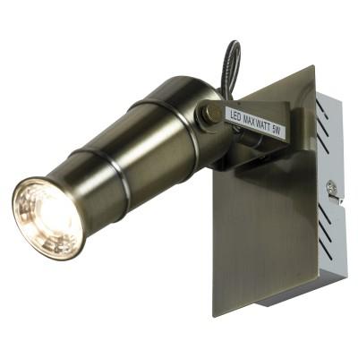 Светильник настенно-потолочный Loft LSP-9509Одиночные<br><br><br>Тип лампы: LED<br>Тип цоколя: LED<br>Цвет арматуры: бронза<br>Количество ламп: 1<br>Ширина, мм: 80<br>Размеры: 80х140х160<br>Расстояние от стены, мм: 160<br>Высота, мм: 140<br>MAX мощность ламп, Вт: 5