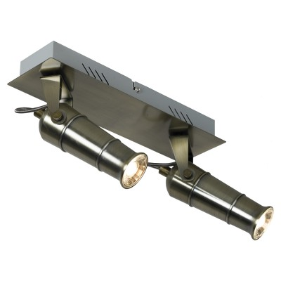 Светильник настенно-потолочный Loft LSP-9510Двойные<br><br><br>Тип лампы: LED<br>Тип цоколя: LED<br>Цвет арматуры: бронза<br>Количество ламп: 2<br>Размеры: 280х140х160<br>MAX мощность ламп, Вт: 5