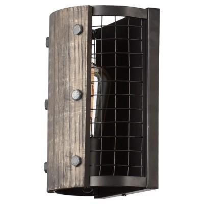 Светильник настенный Loft LSP-9512бра в стиле лофт<br><br><br>Тип цоколя: E27<br>Цвет арматуры: черный<br>Количество ламп: 1<br>Размеры: 170х250х110<br>MAX мощность ламп, Вт: 60