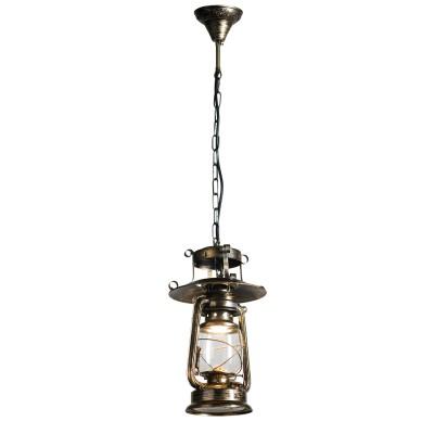 Подвесной светильник керосинка Loft LSP-9518Одиночные<br><br><br>Установка на натяжной потолок: да<br>S освещ. до, м2: 3<br>Крепление: планка<br>Тип лампы: Накаливания / энергосбережения / светодиодная<br>Тип цоколя: E27<br>Цвет арматуры: античная бронза<br>Количество ламп: 1<br>Диаметр, мм мм: 210<br>Высота полная, мм: 1200<br>Высота, мм: 350<br>Оттенок (цвет): коричневый<br>MAX мощность ламп, Вт: 60