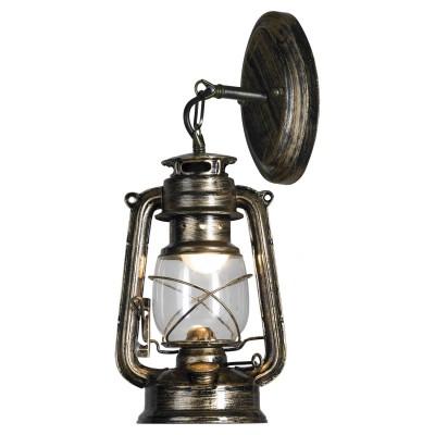 Настенный светильник бра керосинка Loft LSP-9519Лофт<br><br><br>S освещ. до, м2: 2<br>Тип лампы: LED<br>Тип цоколя: E27<br>Цвет арматуры: античная бронза<br>Количество ламп: 1<br>Ширина, мм: 120<br>Расстояние от стены, мм: 170<br>Высота, мм: 400<br>Оттенок (цвет): коричневый<br>MAX мощность ламп, Вт: 60