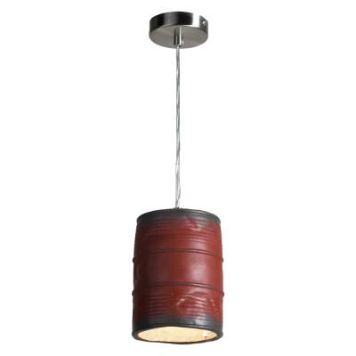 Подвесной светильник Loft LSP-9527Одиночные<br><br><br>Установка на натяжной потолок: да<br>S освещ. до, м2: 3<br>Крепление: планка<br>Тип лампы: накаливания / светодиодные<br>Тип цоколя: E27<br>Цвет арматуры: никель<br>Количество ламп: 1<br>Диаметр, мм мм: 110<br>Высота полная, мм: 1200<br>Высота, мм: 300<br>Оттенок (цвет): красный<br>MAX мощность ламп, Вт: 40