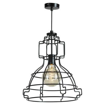 Подвесной светильник Loft LSP-9528подвесные люстры лофт<br><br><br>S освещ. до, м2: 3<br>Тип лампы: накаливания / энергосбережения / LED-светодиодная<br>Тип цоколя: E27<br>Цвет арматуры: черный<br>Количество ламп: 1<br>Размеры: 410х1200х410<br>MAX мощность ламп, Вт: 60