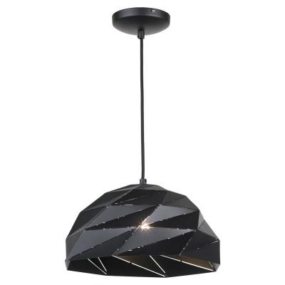 Светильник черный LOFT LSP-9532одиночные подвесные светильники<br><br><br>Установка на натяжной потолок: да<br>S освещ. до, м2: 5<br>Крепление: планка<br>Тип лампы: Накаливания / энергосбережения / светодиодная<br>Тип цоколя: E27<br>Цвет арматуры: черный<br>Количество ламп: 1<br>Диаметр, мм мм: 340<br>Высота полная, мм: 1350<br>Высота, мм: 250<br>Оттенок (цвет): черный<br>MAX мощность ламп, Вт: 60