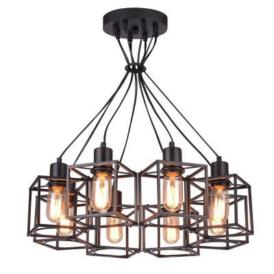 Светильник LSP-9541подвесные люстры лофт<br><br><br>Установка на натяжной потолок: Да<br>Крепление: Планка<br>Тип лампы: Накаливания / энергосбережения / светодиодная<br>Тип цоколя: E27<br>Цвет арматуры: черный<br>Количество ламп: 8<br>Диаметр, мм мм: 530<br>Высота полная, мм: 1200<br>Высота, мм: 170<br>Поверхность арматуры: матовая<br>Оттенок (цвет): черный<br>MAX мощность ламп, Вт: 60<br>Общая мощность, Вт: 480