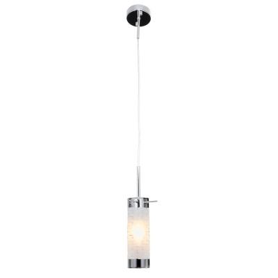 Подвесной светильник Lussole LSP-9548Одиночные<br><br><br>Тип лампы: Накаливания / энергосбережения / светодиодная<br>Тип цоколя: E14<br>Цвет арматуры: хром<br>Количество ламп: 1<br>Размеры: 90х1000х90<br>MAX мощность ламп, Вт: 40
