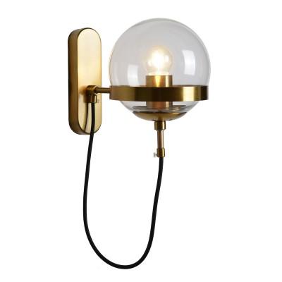 Светильник LSP-9555бра в стиле лофт<br><br><br>Тип лампы: Накаливания / энергосбережения / светодиодная<br>Тип цоколя: E27<br>Цвет арматуры: бронзовый<br>Количество ламп: 1<br>Ширина, мм: 150<br>Расстояние от стены, мм: 280<br>Высота, мм: 220<br>Поверхность арматуры: матовая<br>Оттенок (цвет): бронза<br>MAX мощность ламп, Вт: 60