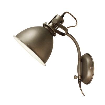 Светильник LOFT LSP-9808Лофт<br><br><br>Тип лампы: Накаливания / энергосбережения / светодиодная<br>Тип цоколя: E27<br>Цвет арматуры: коричневый<br>Количество ламп: 1<br>Ширина, мм: 240<br>Длина, мм: 180<br>Высота, мм: 280<br>MAX мощность ламп, Вт: 60