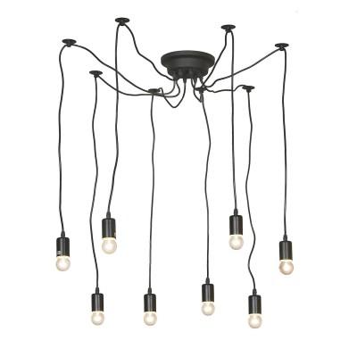 Светильник паук LGO LSP-9840Подвесные<br><br><br>Установка на натяжной потолок: Да<br>S освещ. до, м2: 24<br>Тип лампы: Накаливания / энергосбережения / светодиодная<br>Тип цоколя: E27<br>Количество ламп: 8<br>Диаметр, мм мм: 1500<br>Высота, мм: 500 - 1500<br>MAX мощность ламп, Вт: 60