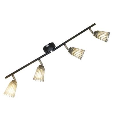 Светильник Lussole Loft LSP-9901С 4 лампами<br><br><br>S освещ. до, м2: 8<br>Тип лампы: галогенная/LED<br>Тип цоколя: G9<br>Количество ламп: 4<br>Ширина, мм: 330<br>Глубина, мм: 140<br>Высота, мм: 120<br>MAX мощность ламп, Вт: 40