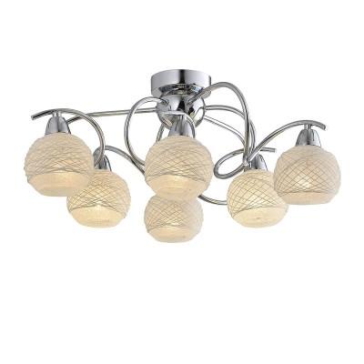 Светильник Lussole Loft LSP-9902Потолочные<br><br><br>Установка на натяжной потолок: Да<br>S освещ. до, м2: 12<br>Тип лампы: Накаливания / энергосбережения / светодиодная<br>Тип цоколя: E14<br>Количество ламп: 6<br>MAX мощность ламп, Вт: 40<br>Диаметр, мм мм: 620<br>Высота, мм: 250