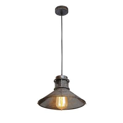 Светильник Lussole Loft LSP-9916Одиночные<br><br><br>Тип лампы: Накаливания / энергосбережения / светодиодная<br>Тип цоколя: E27<br>Количество ламп: 1<br>MAX мощность ламп, Вт: 60<br>Диаметр, мм мм: 270<br>Высота, мм: 160 - 1200