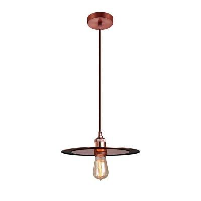 Светильник Lussole Loft LSP-9917Одиночные<br><br><br>Тип лампы: Накаливания / энергосбережения / светодиодная<br>Тип цоколя: E27<br>Количество ламп: 1<br>MAX мощность ламп, Вт: 60<br>Диаметр, мм мм: 250<br>Высота, мм: 1200
