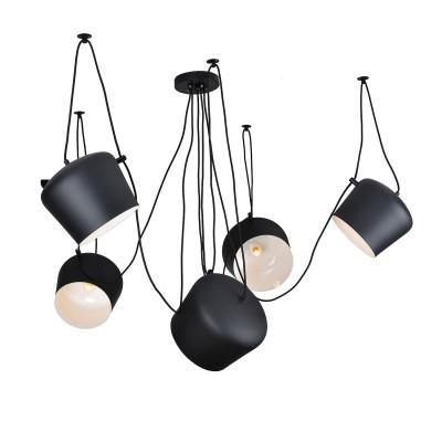 LSP-9919Подвесные<br><br><br>Установка на натяжной потолок: Да<br>S освещ. до, м2: 15<br>Тип лампы: Накаливания / энергосбережения / светодиодная<br>Тип цоколя: E27<br>Количество ламп: 5<br>MAX мощность ламп, Вт: 60<br>Диаметр, мм мм: 1650<br>Высота, мм: 500 - 1500
