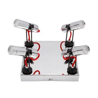 Спот Loft LSP-9925С 4 лампами<br><br><br>S освещ. до, м2: 8<br>Тип лампы: LED<br>Тип цоколя: LED<br>Количество ламп: 4<br>Ширина, мм: 230<br>Расстояние от стены, мм: 140<br>Высота, мм: 230<br>MAX мощность ламп, Вт: 5