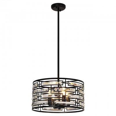 Светильник Lussole Loft LSP-9935Потолочные<br><br><br>Установка на натяжной потолок: Да<br>S освещ. до, м2: 8<br>Тип лампы: Накаливания / энергосбережения / светодиодная<br>Тип цоколя: E14<br>Количество ламп: 4<br>MAX мощность ламп, Вт: 40<br>Диаметр, мм мм: 420<br>Высота, мм: 190 - 1200