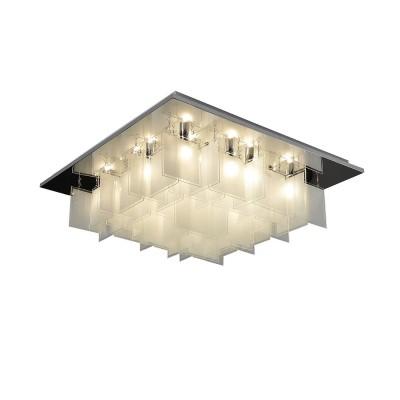 Светильник Lussole Loft LSP-9936Потолочные<br><br><br>Установка на натяжной потолок: Ограничено<br>S освещ. до, м2: 36<br>Тип лампы: Накаливания / энергосбережения / светодиодная<br>Тип цоколя: E14<br>Количество ламп: 18<br>Ширина, мм: 600<br>Длина, мм: 600<br>Высота, мм: 240<br>MAX мощность ламп, Вт: 40