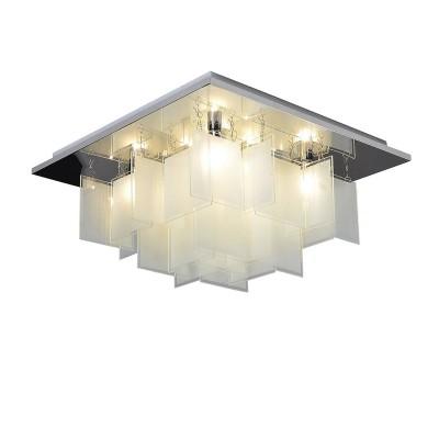 Светильник Lussole Loft LSP-9937Потолочные<br><br><br>Тип лампы: Накаливания / энергосбережения / светодиодная<br>Тип цоколя: E14<br>Количество ламп: 8<br>Ширина, мм: 450<br>MAX мощность ламп, Вт: 40<br>Длина, мм: 450<br>Высота, мм: 240<br>Цвет арматуры: серебристый