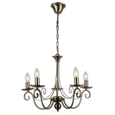 Светильник LGO LSP-9941Подвесные<br><br><br>S освещ. до, м2: 10<br>Тип лампы: накаливания / энергосбережения / LED-светодиодная<br>Тип цоколя: E14<br>Цвет арматуры: бронзовый<br>Количество ламп: 5<br>Диаметр, мм мм: 540<br>Высота полная, мм: 1100<br>MAX мощность ламп, Вт: 40