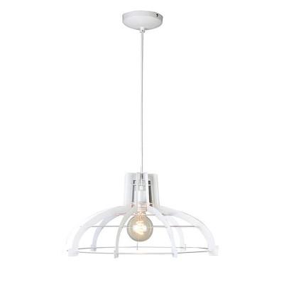 Светильник Lussole Loft LSP-9944одиночные подвесные светильники<br><br><br>Тип лампы: Накаливания / энергосбережения / светодиодная<br>Тип цоколя: E27<br>Цвет арматуры: белый<br>Количество ламп: 1<br>Диаметр, мм мм: 490<br>Высота, мм: 1200<br>MAX мощность ламп, Вт: 60