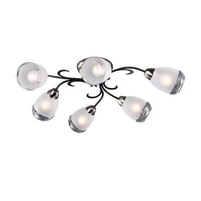 Люстра LSP-9952Потолочные<br><br><br>Установка на натяжной потолок: Да<br>S освещ. до, м2: 12<br>Тип лампы: накаливания / энергосбережения / LED-светодиодная<br>Тип цоколя: E14<br>Цвет арматуры: черный/золотой<br>Количество ламп: 6<br>Диаметр, мм мм: 740<br>Высота, мм: 210<br>MAX мощность ламп, Вт: 40