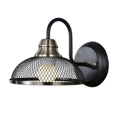 Бра LSP-9953Лофт<br><br><br>Тип лампы: накаливания / энергосбережения / LED-светодиодная<br>Тип цоколя: E27<br>Количество ламп: 1<br>Ширина, мм: 170<br>MAX мощность ламп, Вт: 60<br>Расстояние от стены, мм: 240<br>Высота, мм: 180<br>Цвет арматуры: черный