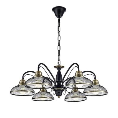 Люстра LSP-9954Подвесные<br><br><br>Установка на натяжной потолок: Да<br>S освещ. до, м2: 18<br>Тип лампы: накаливания / энергосбережения / LED-светодиодная<br>Тип цоколя: E27<br>Количество ламп: 6<br>MAX мощность ламп, Вт: 60<br>Диаметр, мм мм: 700<br>Высота, мм: 250 - 1200<br>Цвет арматуры: черный