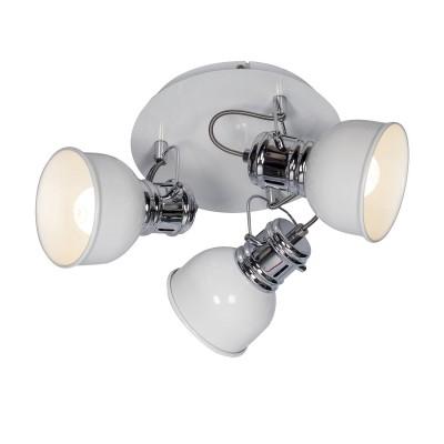 Спот Loft LSP-9956Тройные<br><br><br>S освещ. до, м2: 6<br>Тип лампы: Накаливания / энергосбережения / светодиодная<br>Тип цоколя: E14<br>Количество ламп: 3<br>Диаметр, мм мм: 350<br>Расстояние от стены, мм: 160<br>MAX мощность ламп, Вт: 40