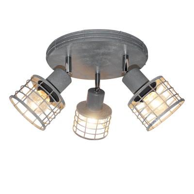 Светильник Lussole Loft LSP-9969Тройные<br><br><br>S освещ. до, м2: 9<br>Тип лампы: Накаливания / энергосбережения / светодиодная<br>Тип цоколя: E27<br>Количество ламп: 3<br>Диаметр, мм мм: 250<br>Высота, мм: 150<br>MAX мощность ламп, Вт: 60