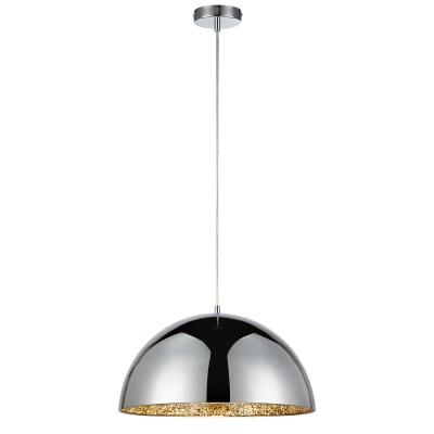 Светильник LOFT LSP-9972одиночные подвесные светильники<br><br><br>Тип лампы: Накаливания / энергосбережения / светодиодная<br>Тип цоколя: E27<br>Цвет арматуры: серебристый<br>Количество ламп: 1<br>Диаметр, мм мм: 400<br>Высота полная, мм: 1500<br>Высота, мм: 200<br>MAX мощность ламп, Вт: 60